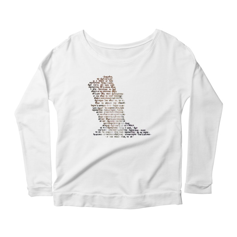 Pure Imagination Women's Scoop Neck Longsleeve T-Shirt by Shappie's Glorious Design Shop