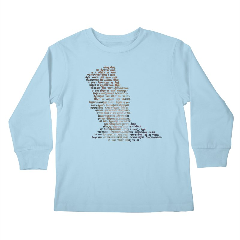 Pure Imagination Kids Longsleeve T-Shirt by Shappie's Glorious Design Shop