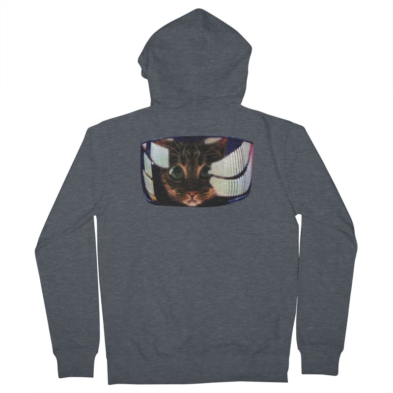 My God..It's Full of Catnip! Men's French Terry Zip-Up Hoody by Shappie's Glorious Design Shop