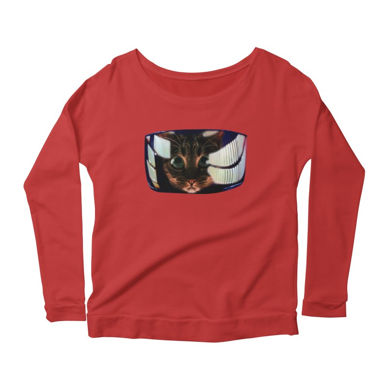 My God..It's Full of Catnip! Women's Scoop Neck Longsleeve T-Shirt by Shappie's Glorious Design Shop