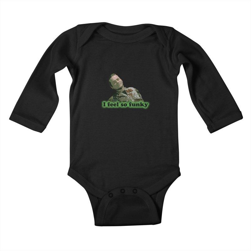 I Feel So Funky Kids Baby Longsleeve Bodysuit by Shappie's Glorious Design Shop