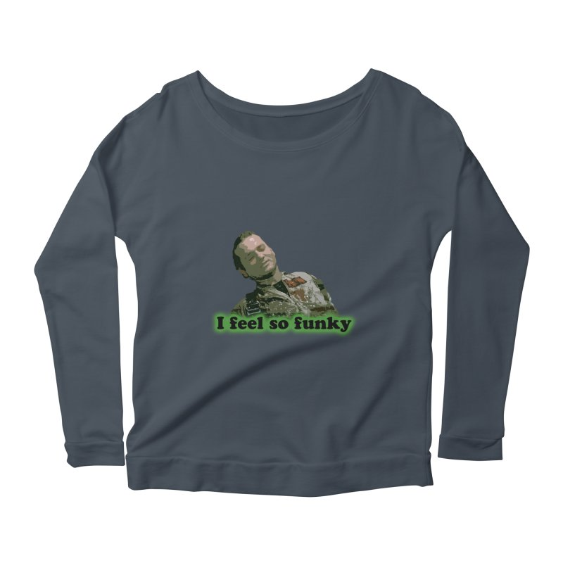 I Feel So Funky Women's Longsleeve Scoopneck  by Shappie's Glorious Design Shop