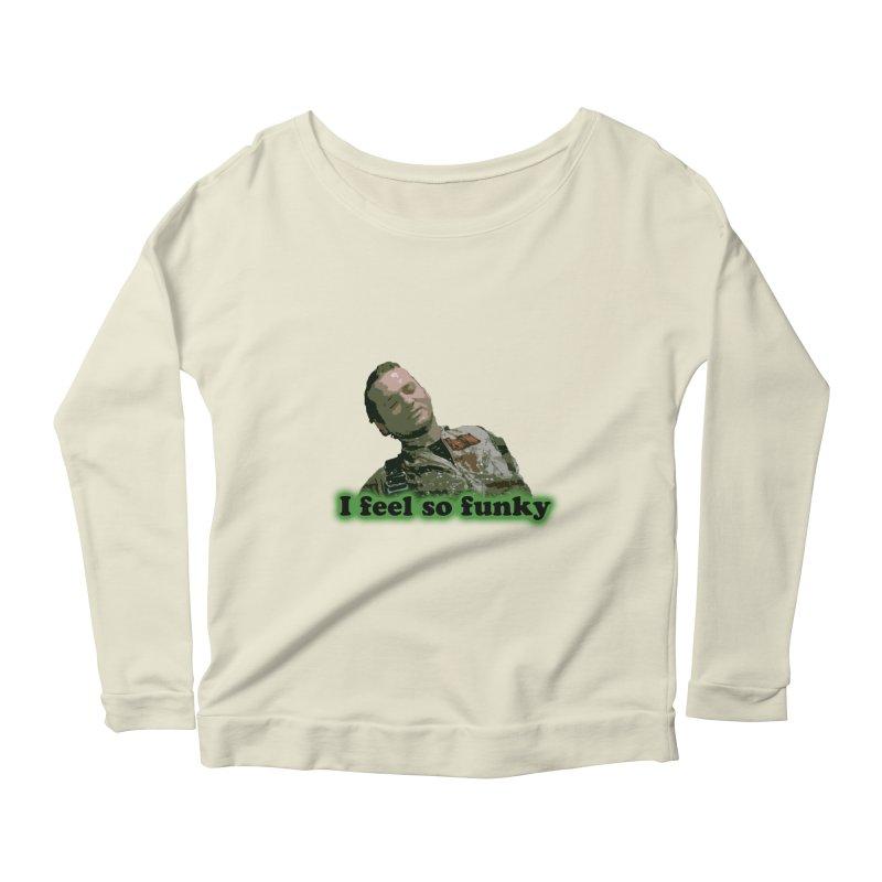 I Feel So Funky Women's Scoop Neck Longsleeve T-Shirt by Shappie's Glorious Design Shop