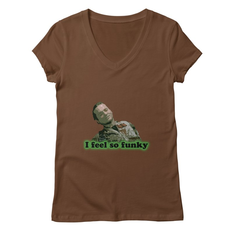 I Feel So Funky Women's V-Neck by Shappie's Glorious Design Shop