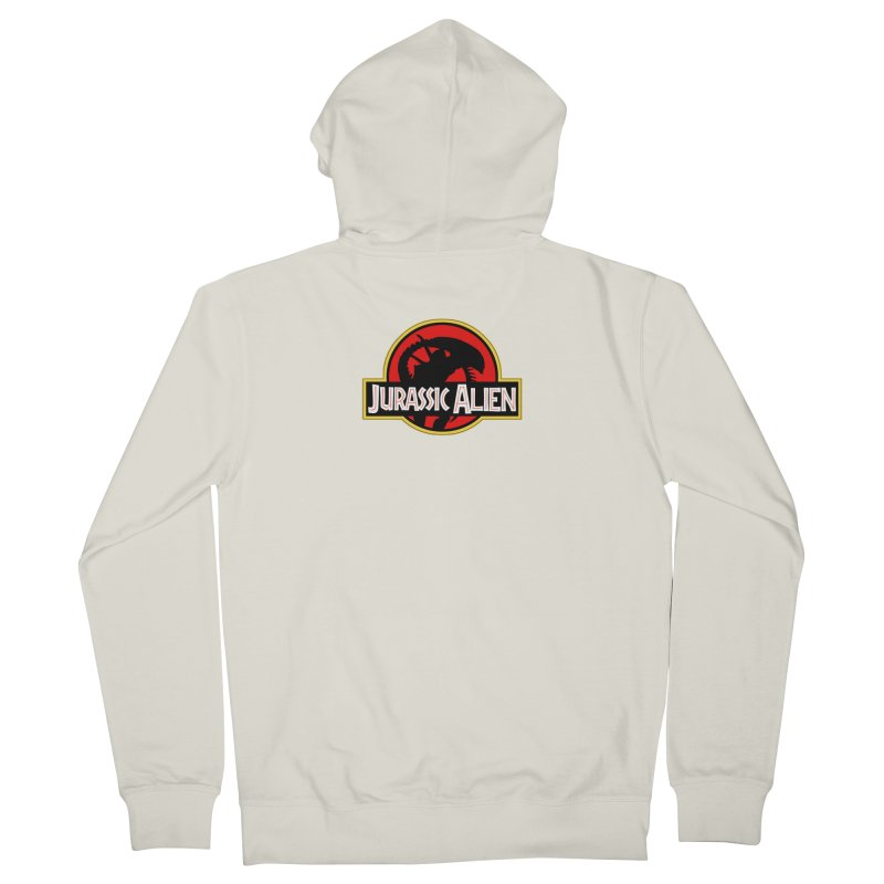 Jurassic Alien Men's French Terry Zip-Up Hoody by Shappie's Glorious Design Shop
