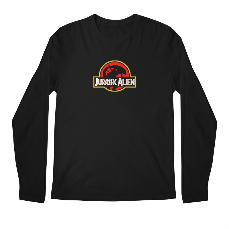 Jurassic Alien Men's Regular Longsleeve T-Shirt by Shappie's Glorious Design Shop