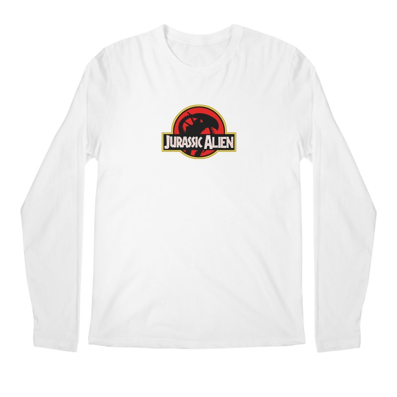 Jurassic Alien Men's Regular Longsleeve T-Shirt by Shappie's Glorious Design Shop