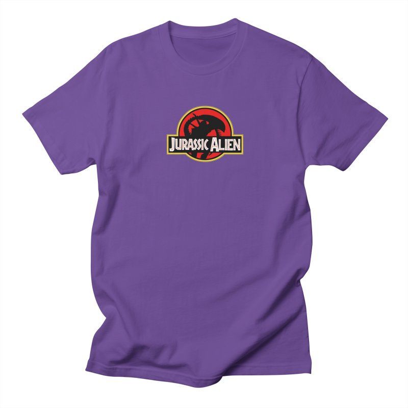 Jurassic Alien Men's Regular T-Shirt by Shappie's Glorious Design Shop