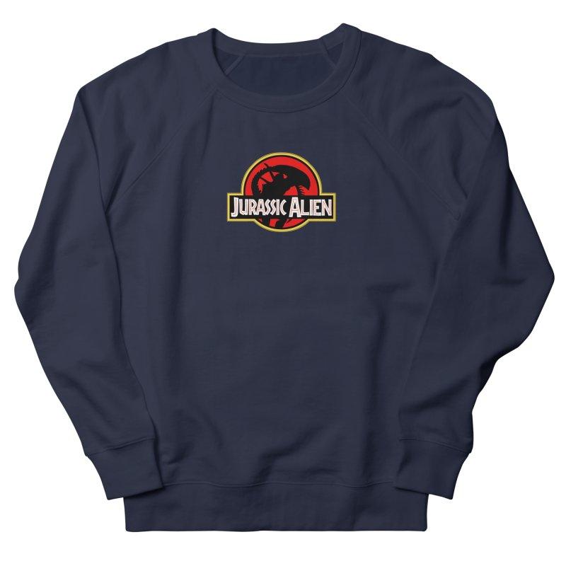 Jurassic Alien Men's French Terry Sweatshirt by Shappie's Glorious Design Shop