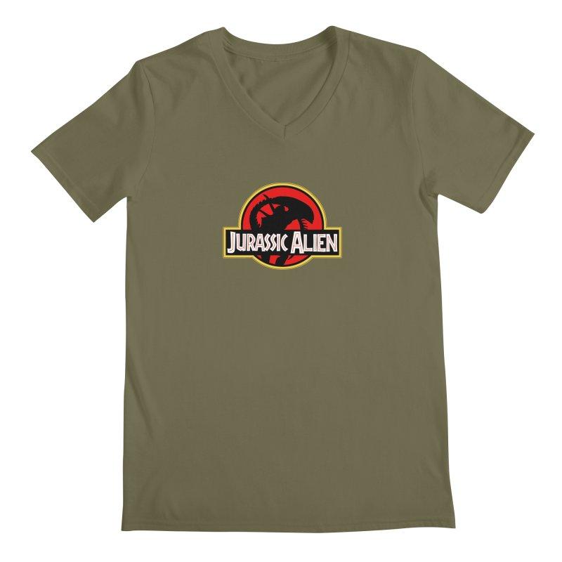 Jurassic Alien Men's Regular V-Neck by Shappie's Glorious Design Shop