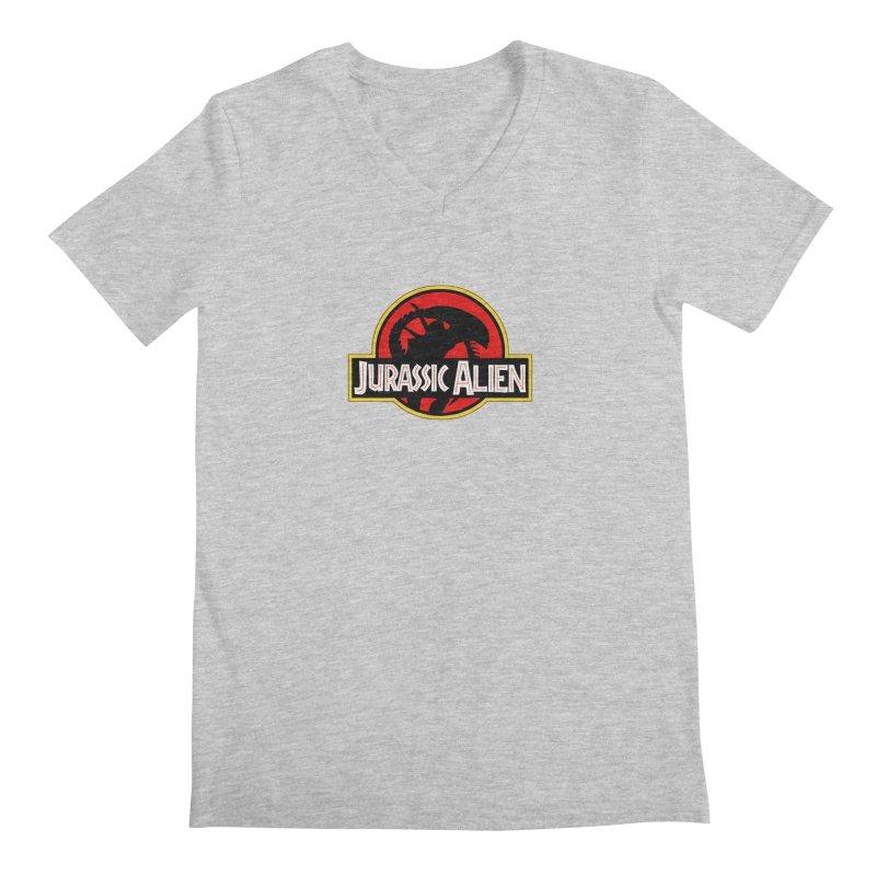 Jurassic Alien Men's V-Neck by Shappie's Glorious Design Shop