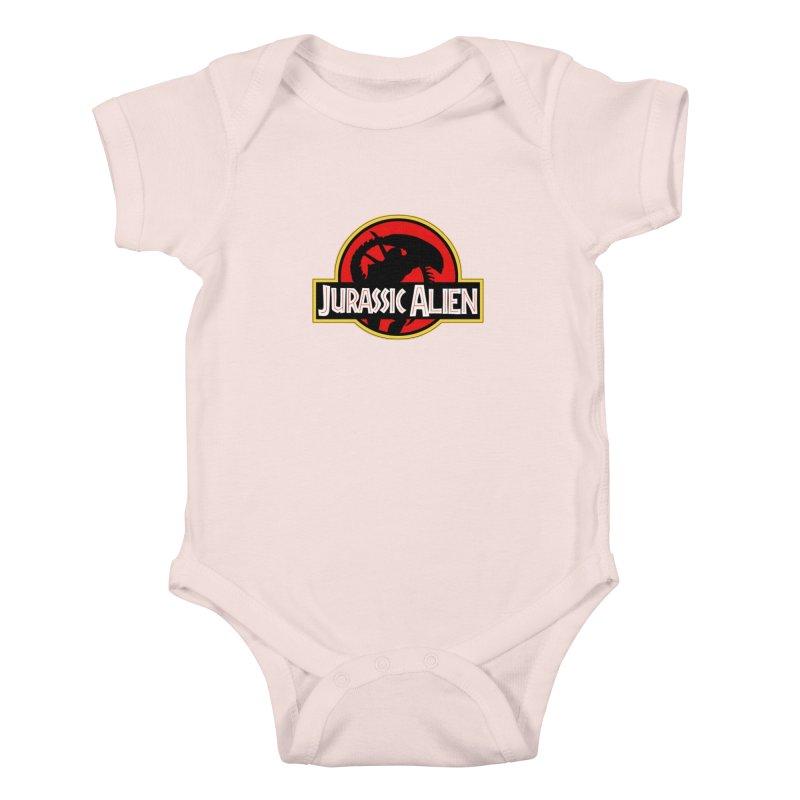 Jurassic Alien Kids Baby Bodysuit by Shappie's Glorious Design Shop