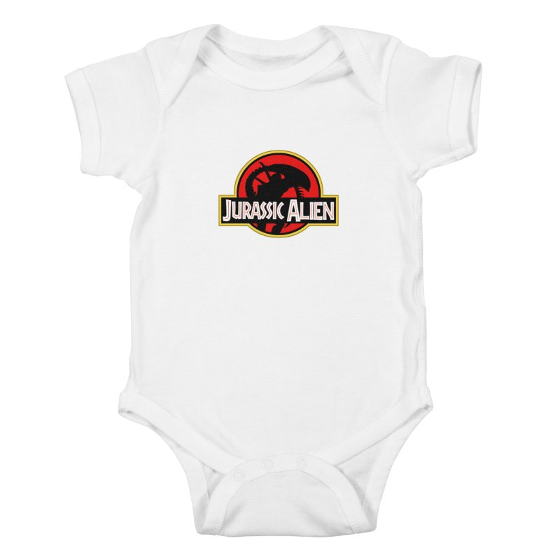 Jurassic Alien Kids Baby Bodysuit by Shappie's Glorious Design Shop