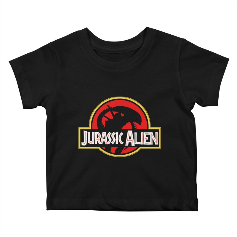 Jurassic Alien Kids Baby T-Shirt by Shappie's Glorious Design Shop