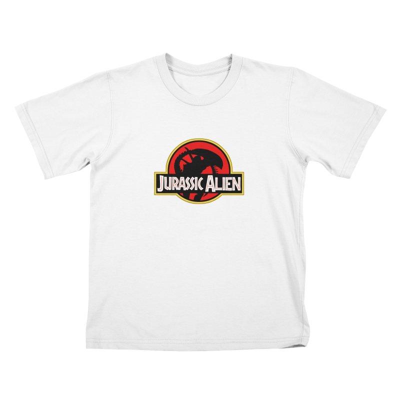 Jurassic Alien Kids T-shirt by Shappie's Glorious Design Shop