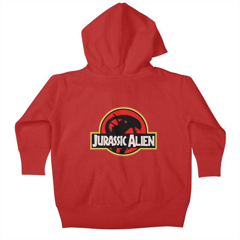 Jurassic Alien Kids Baby Zip-Up Hoody by Shappie's Glorious Design Shop