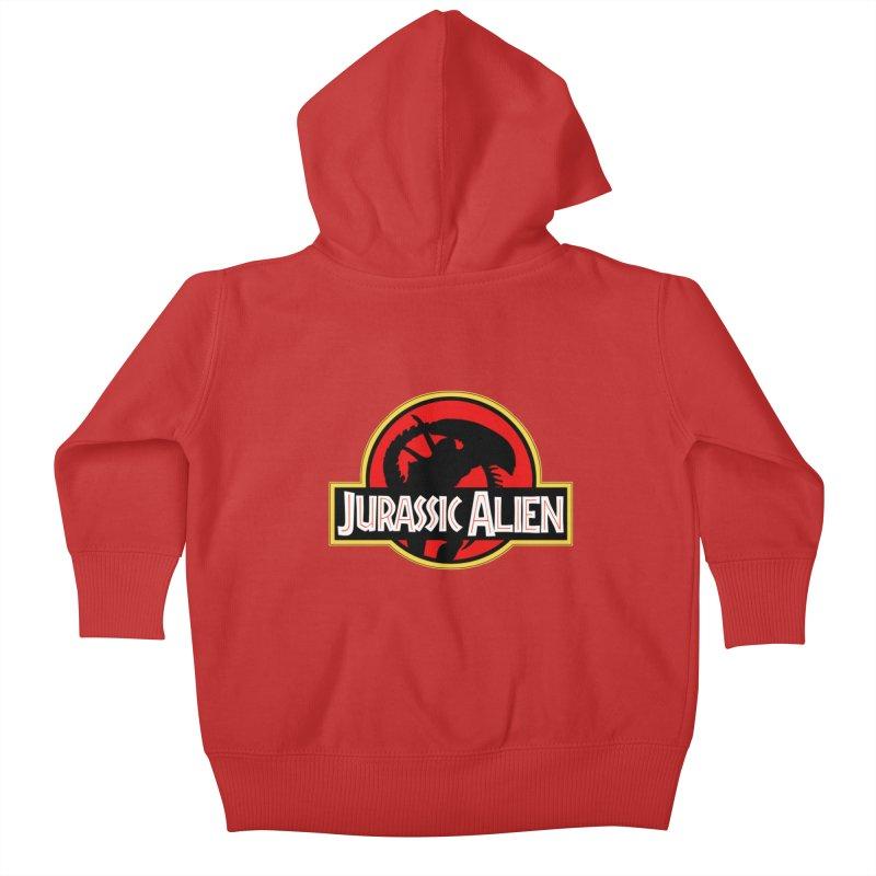 Jurassic Alien Kids Baby Zip-Up Hoody by Shappie's Glorious Design Shop