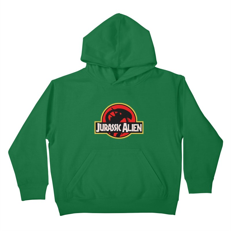 Jurassic Alien Kids Pullover Hoody by Shappie's Glorious Design Shop