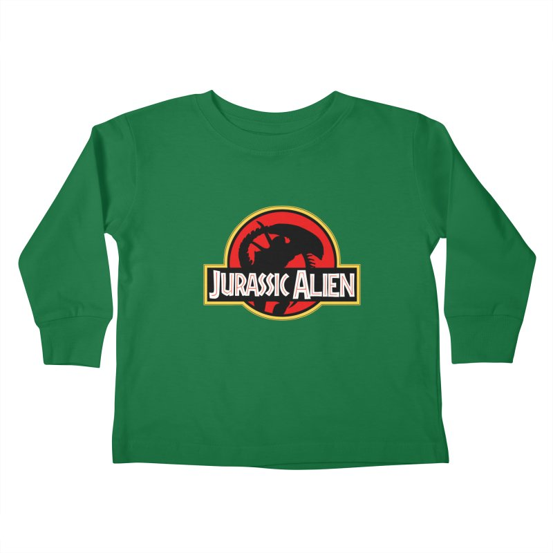 Jurassic Alien Kids Toddler Longsleeve T-Shirt by Shappie's Glorious Design Shop