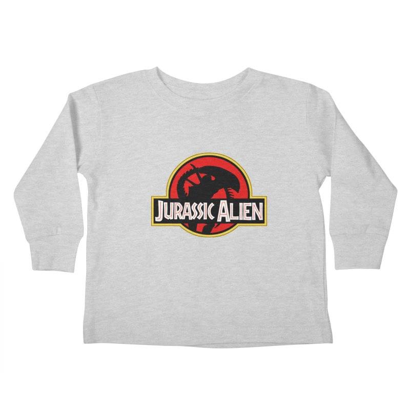 Jurassic Alien Kids Toddler Longsleeve T-Shirt by Shappie's Glorious Design Shop