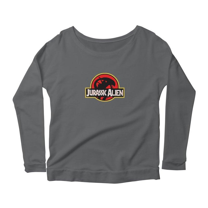 Jurassic Alien Women's Scoop Neck Longsleeve T-Shirt by Shappie's Glorious Design Shop