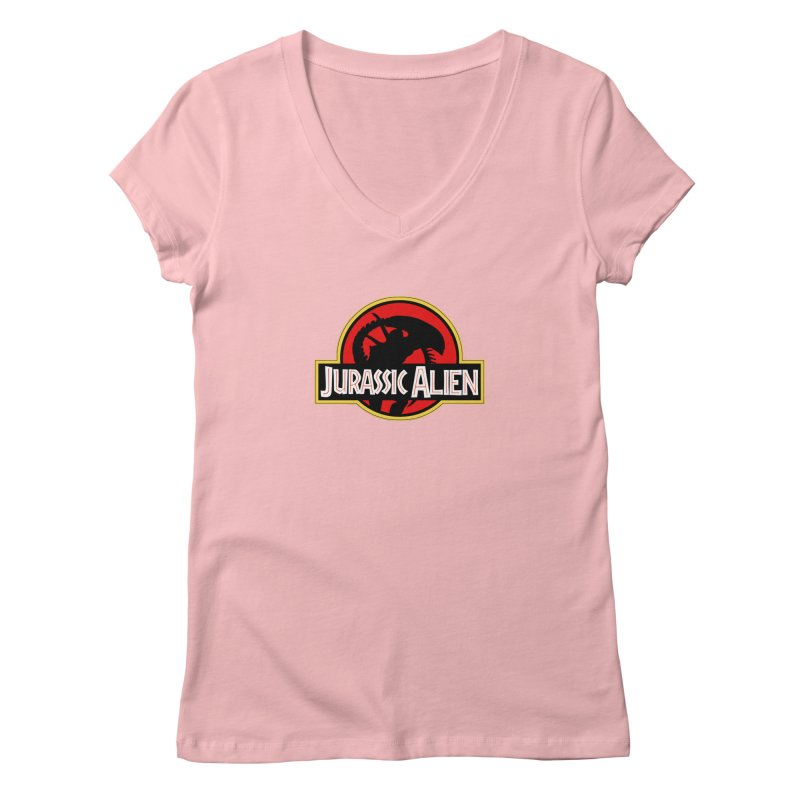 Jurassic Alien Women's Regular V-Neck by Shappie's Glorious Design Shop