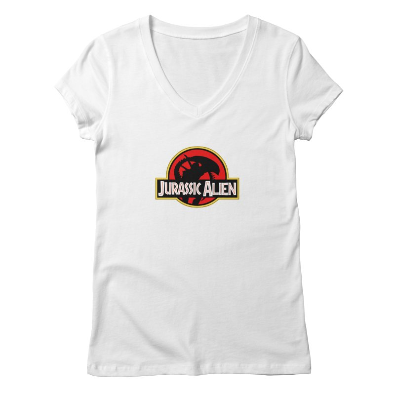 Jurassic Alien Women's Regular V-Neck by Shappie's Glorious Design Shop
