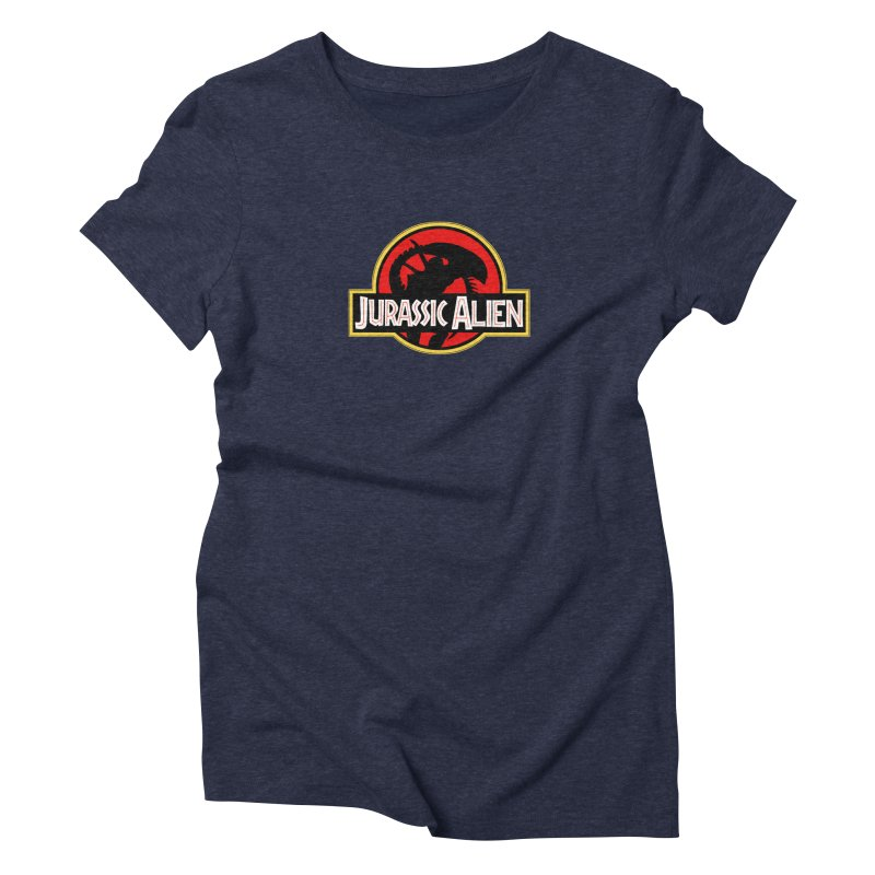 Jurassic Alien Women's Triblend T-shirt by Shappie's Glorious Design Shop