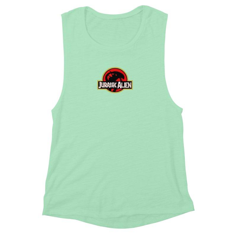 Jurassic Alien Women's Muscle Tank by Shappie's Glorious Design Shop