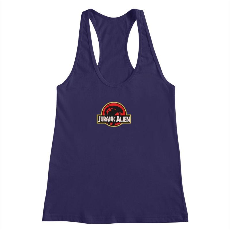 Jurassic Alien Women's Racerback Tank by Shappie's Glorious Design Shop