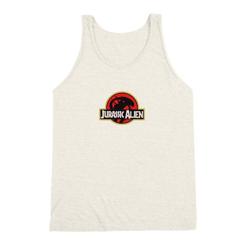 Jurassic Alien Men's Triblend Tank by Shappie's Glorious Design Shop