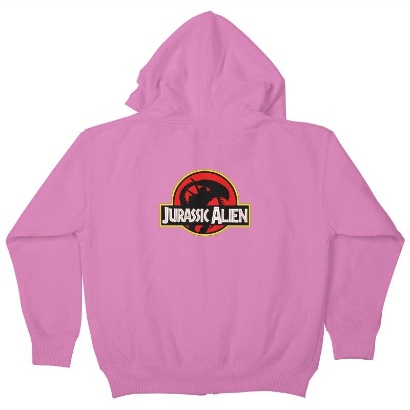 Jurassic Alien Kids Zip-Up Hoody by Shappie's Glorious Design Shop