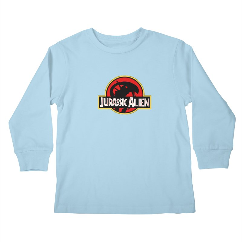Jurassic Alien Kids Longsleeve T-Shirt by Shappie's Glorious Design Shop