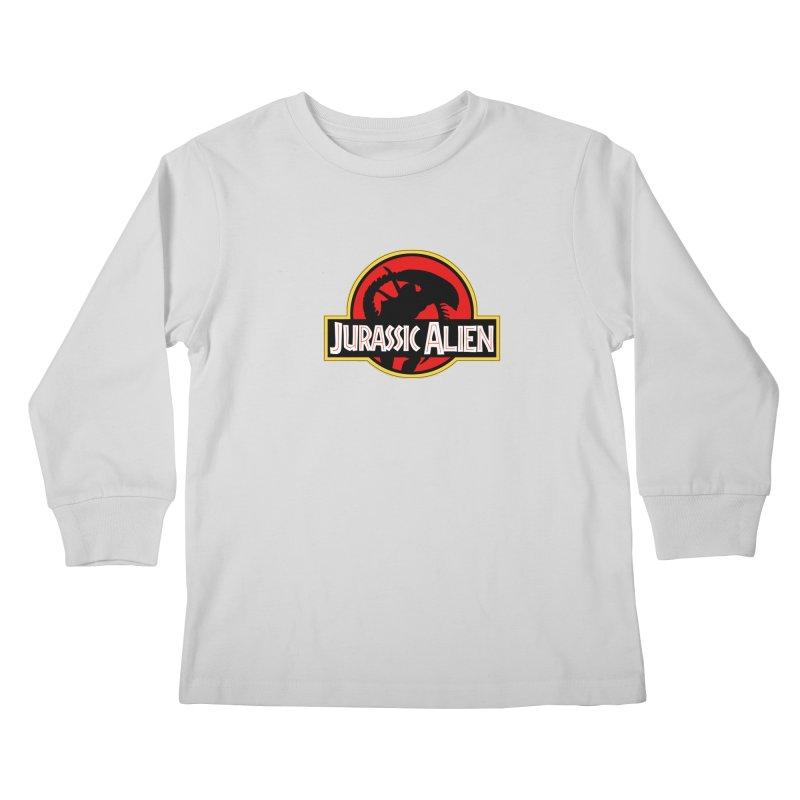 Jurassic Alien Kids Longsleeve T-Shirt by Shappie's Glorious Design Shop