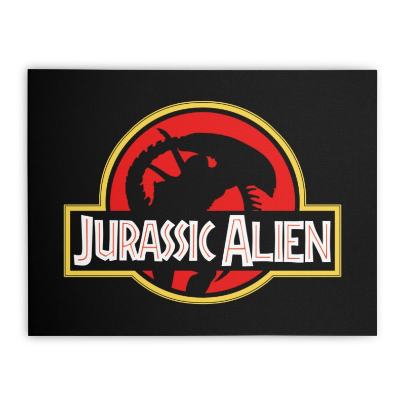 Jurassic Alien Home Stretched Canvas by Shappie's Glorious Design Shop