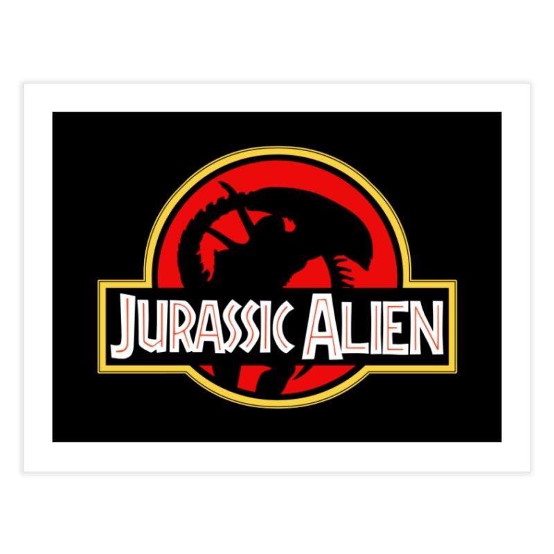 Jurassic Alien Home Fine Art Print by Shappie's Glorious Design Shop