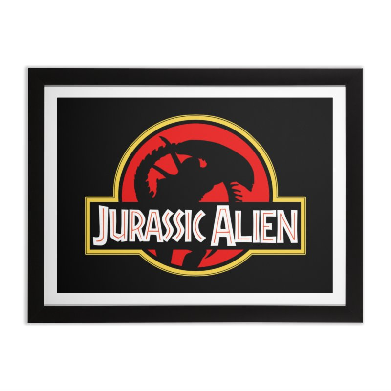 Jurassic Alien Home Framed Fine Art Print by Shappie's Glorious Design Shop