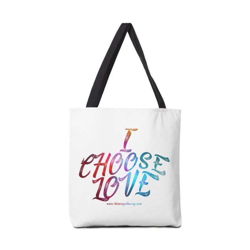 I Choose Love Accessories Bag by Shawn Gallaway Artist Shop