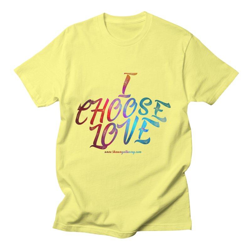I Choose Love Men's T-Shirt by Shawn Gallaway Artist Shop