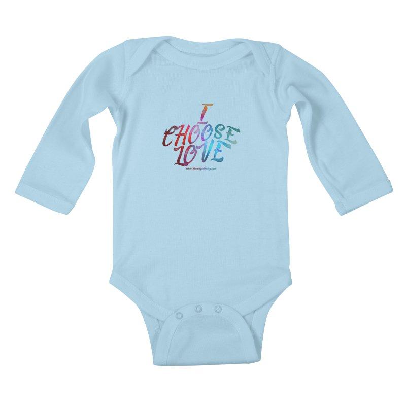 I Choose Love Kids Baby Longsleeve Bodysuit by Shawn Gallaway Artist Shop