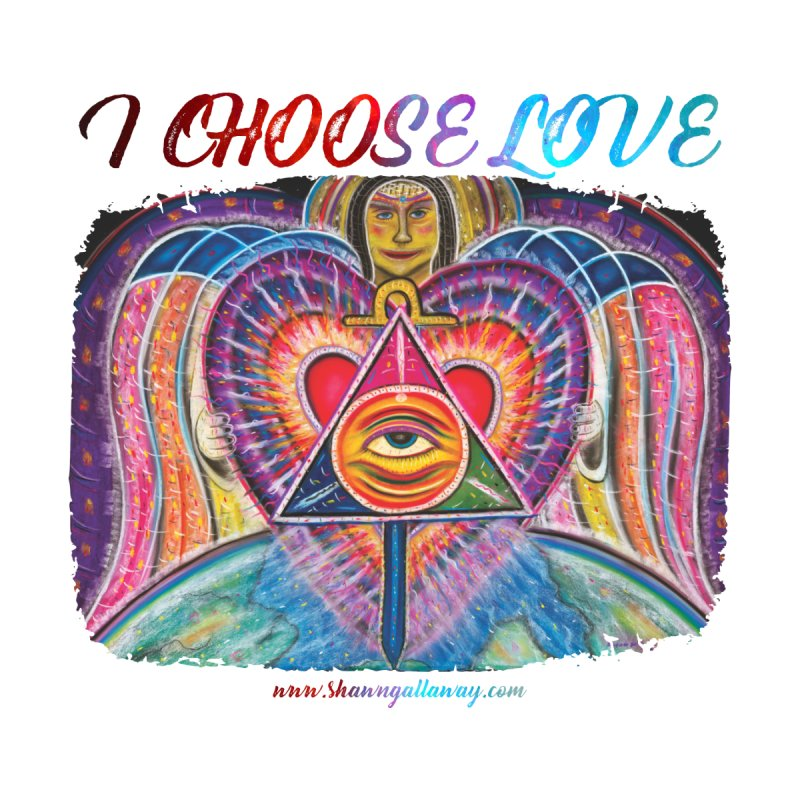 I Choose Love Angel Kids Longsleeve T-Shirt by Shawn Gallaway Artist Shop