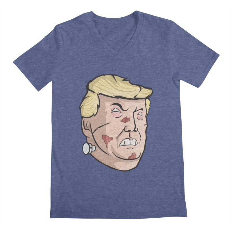 Trump-instein Men's V-Neck by Sheepdogdesign's Artist Shop
