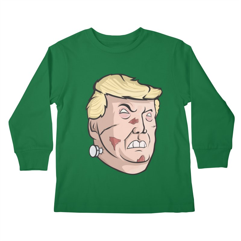 Trump-instein Kids Longsleeve T-Shirt by Sheepdogdesign's Artist Shop