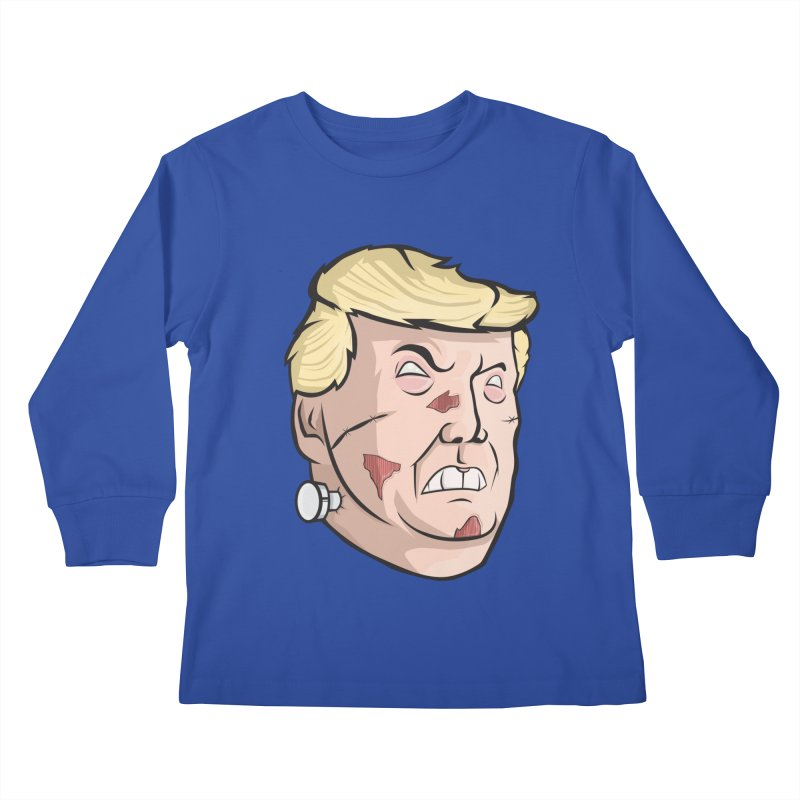 Trump-instein Kids Longsleeve T-Shirt by Sheepdogdesign's Artist Shop