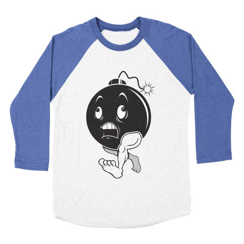 A Short Fuse Men's Baseball Triblend T-Shirt by Sheepdogdesign's Artist Shop
