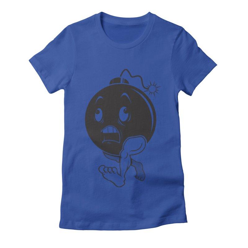 A Short Fuse Women's Fitted T-Shirt by Sheepdogdesign's Artist Shop