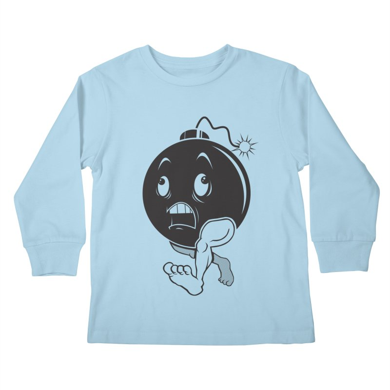 A Short Fuse Kids Longsleeve T-Shirt by Sheepdogdesign's Artist Shop