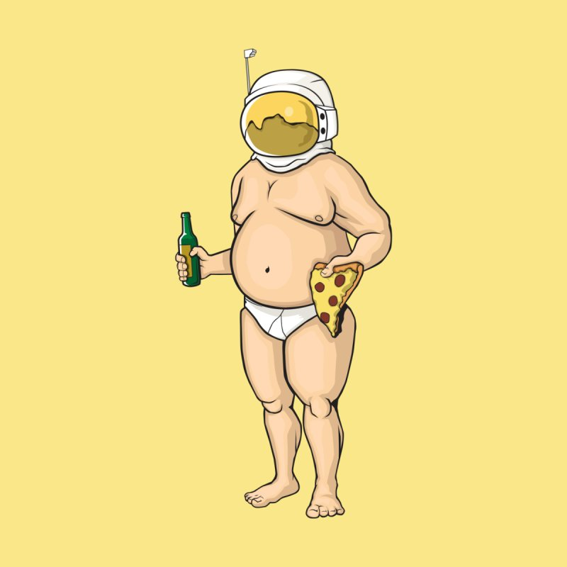 Space, Beer, and Pizza by Sheepdogdesign's Artist Shop