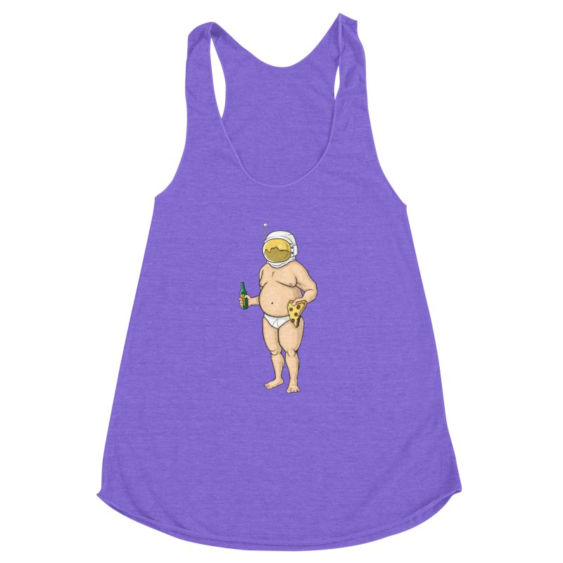 Space, Beer, and Pizza Women's Racerback Triblend Tank by Sheepdogdesign's Artist Shop