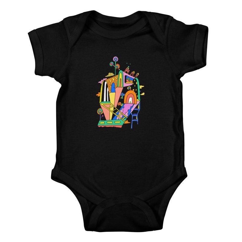Lollipop Train Kids Baby Bodysuit by Shelby Works